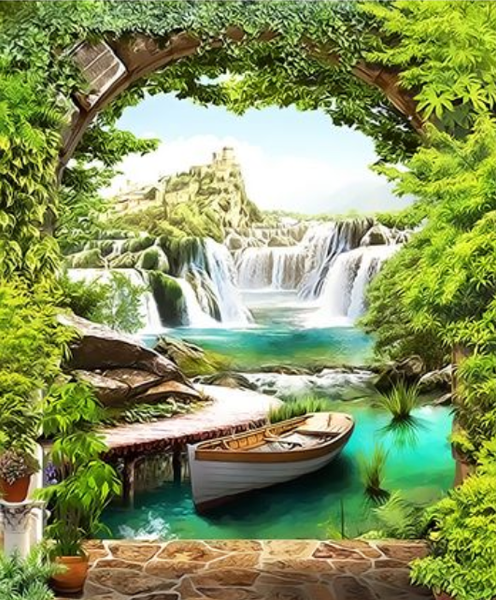 Landscape Waterfall Diy Paint By Numbers Kits ZXQ3512