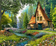 Landscape Cottage Diy Paint By Numbers Kits ZXQ3865