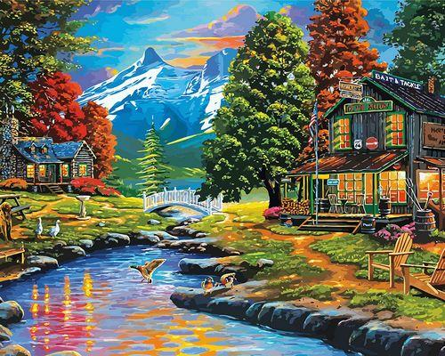 Landscape Cottage Diy Paint By Numbers Kits ZXQ3923