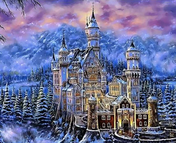 Landscape Castle Diy Paint By Numbers Kits ZXQ3954