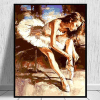Ballet Dancer Diy Paint By Numbers Kits Q686