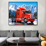 Snow Truck Diy Paint By Numbers Kits VM91596