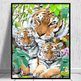 Tiger Diy Paint By Numbers Kits VM95729