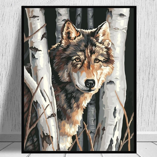 Wolf Diy Paint By Numbers Kits WM-003