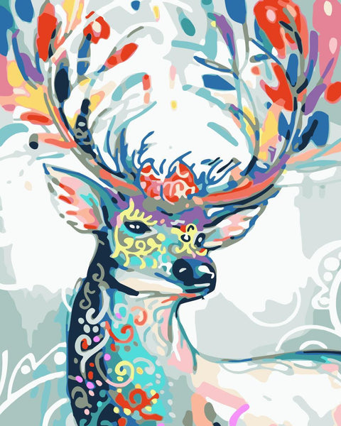 Deer Diy Paint By Numbers Kits WM-1130