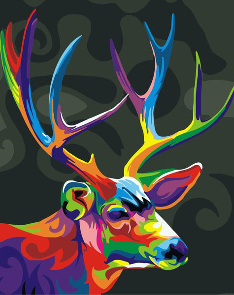 Deer Diy Paint By Numbers Kits WM-1176