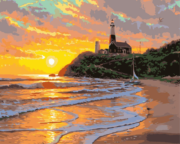 Landscape Beach Diy Paint By Numbers Kits WM-1183