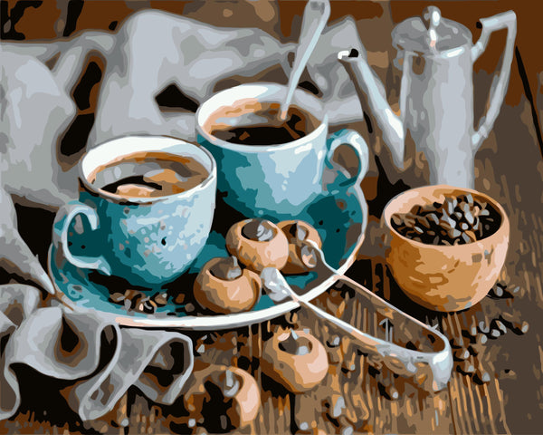 Coffee Paint By Numbers Kits WM-121