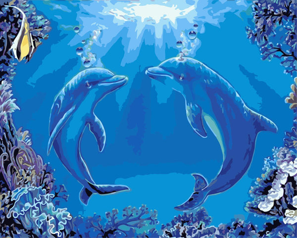 Dream Dolphin Diy Paint By Numbers Kits WM-1211