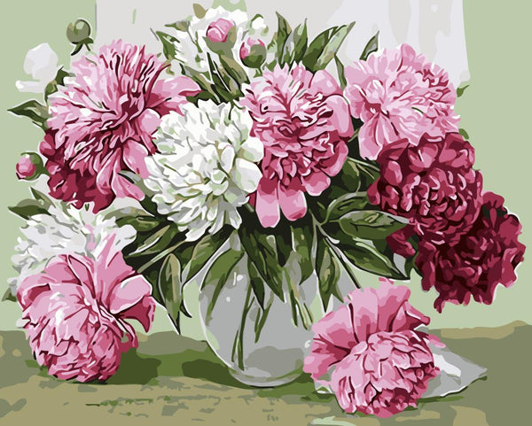 Peony Diy Paint By Numbers Kits WM-1344