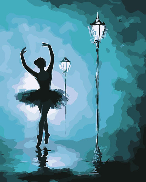 Ballet Dancer Diy Paint By Numbers Kits XQ2752