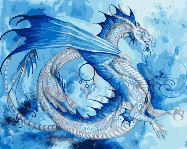 Dragon Diy Paint By Numbers Kits WM-1588
