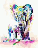 Elephant Diy Paint By Numbers Kits WM-175