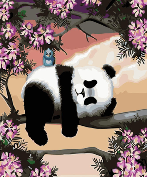 Panda Diy Paint By Numbers Kits WM-316