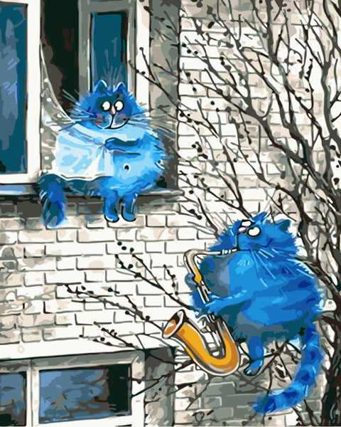 Cat Diy Paint By Numbers Kits WM-324