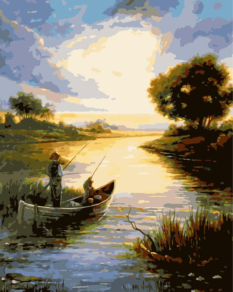 Landscape Lake Diy Paint By Numbers Kits WM-624