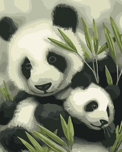 Panda Diy Paint By Numbers Kits WM-643