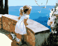Seaside Girl Diy Paint By Numbers Kits WM-934 ZXQ1237
