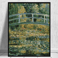 Claude Monet's Bridge Diy Paint By Numbers Kits WM-872
