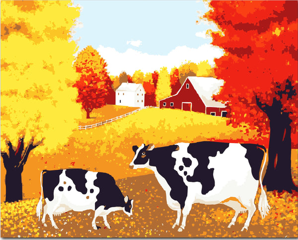 Cow Diy Paint By Numbers Kits YM-4050-115