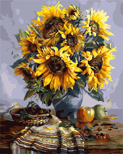 Sunflower Diy Paint By Numbers Kits YM-4050-186