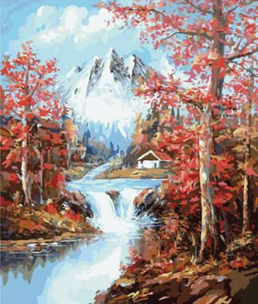 Landscape Waterfall Diy Paint By Numbers Kits ZXZ-101