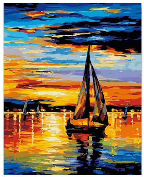 Landscape Boat Paint By Numbers Kits PBN91070