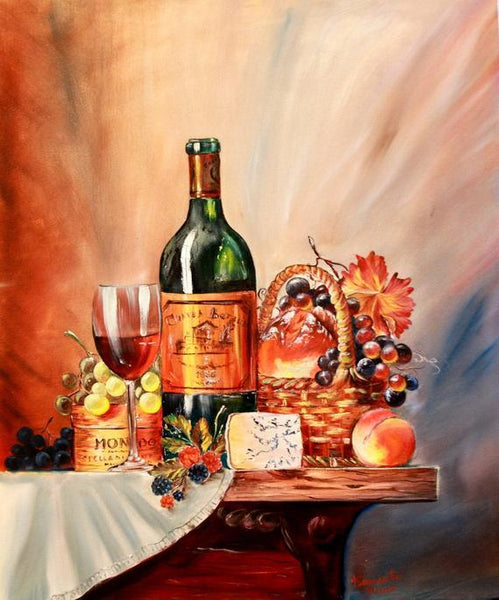 Flower Wine Diy Paint By Numbers Kits PBN91154