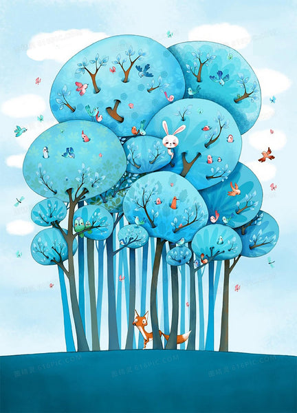 Cartoon Tree Diy Paint By Numbers Kits PBN94187