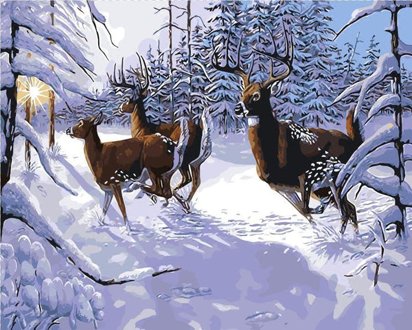 Deer Diy Paint By Numbers Kits PBN95726