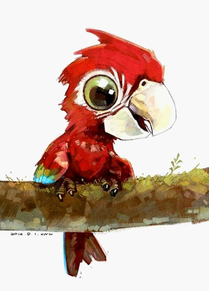 Parrot Diy Paint By Numbers Kits VM97502