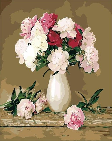 Flower In Bottle Diy Paint By Numbers Kits PBN90101