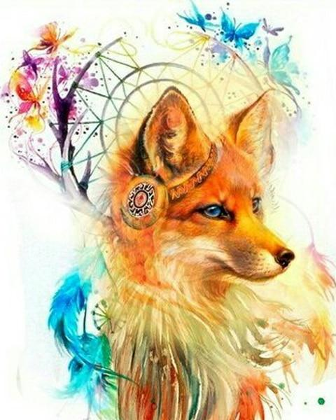 Animal Fox Diy Paint By Numbers Kits PBN90752