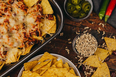 Sunflower Family Mince's 'Cheezy' Meaty Vegan Nacho's