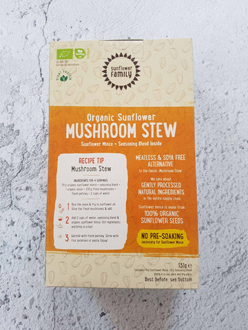 Organic Vegan Meal Plant Based Mushroom Stew Mince Box |  Wholesozo
