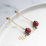 Long Strawberry Pendant Earrings