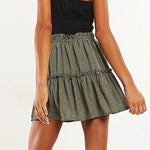 Ruffled Chiffon Mini Skirt