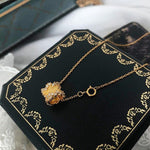 Gold Plated Sterling Silver Pendant Necklace