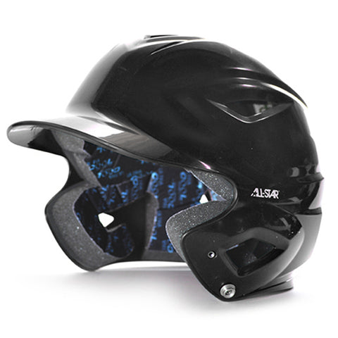 S7 Youth Solid Gloss Batting Helmet - Black