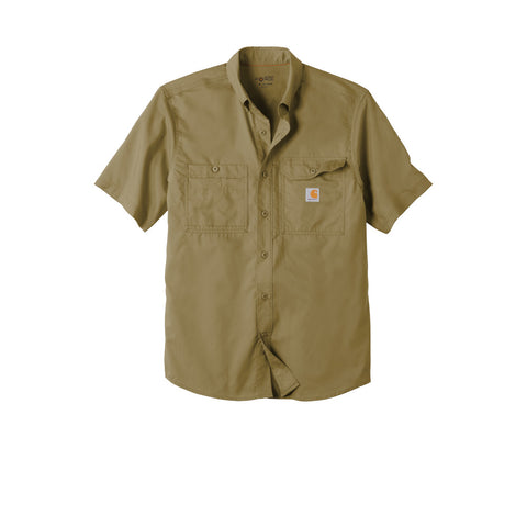 Image of Carhartt Force Ridgefield Solid Short Sleeve Shirt