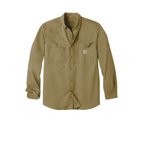 Image of Carhartt Force Ridgefield Solid Long Sleeve Shirt