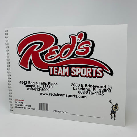 Image of Big Red 24 Game Men's Lacrosse Scorebook