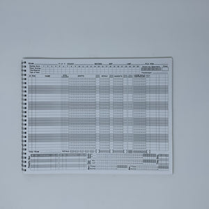 Big Red 24 Game Men's Lacrosse Scorebook
