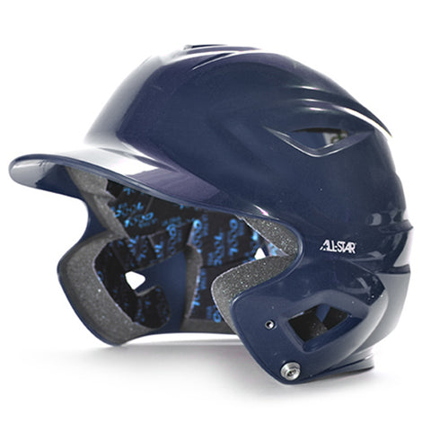 S7 Youth Solid Gloss Batting Helmet - NAVY