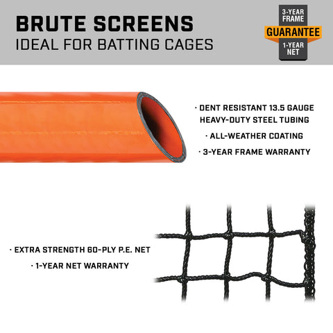 Champro Brute Pitcher's Safety Screen - 7'X7'