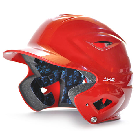 S7 Youth Solid Gloss Batting Helmet - Red