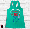 """Healthcare Hero"" BELLA+CANVAS Women's Racerback Tank Top"