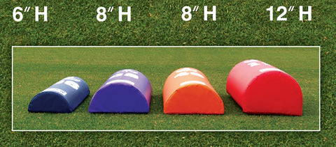 "Fisher Half Round Football Dummy -  6""H x 12''W x 42''L"