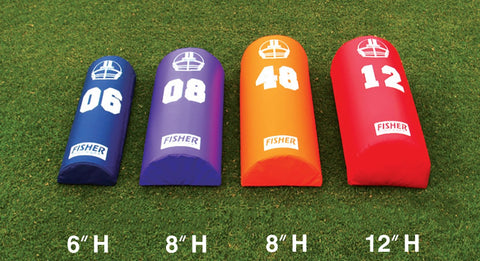 "Image of Fisher Half Round Football Dummy -  8""H X 16""W X 48""L"