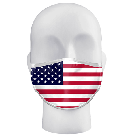 Image of 3-Ply Sublimated Mask - Flag Patterns
